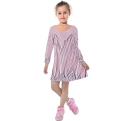 Shabby Chic Vintage Background Kids  Long Sleeve Velvet Dress