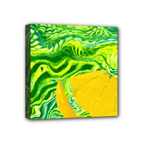Zitro Abstract Sour Texture Food Mini Canvas 4  X 4