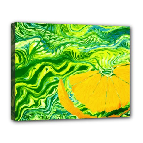 Zitro Abstract Sour Texture Food Canvas 14  X 11