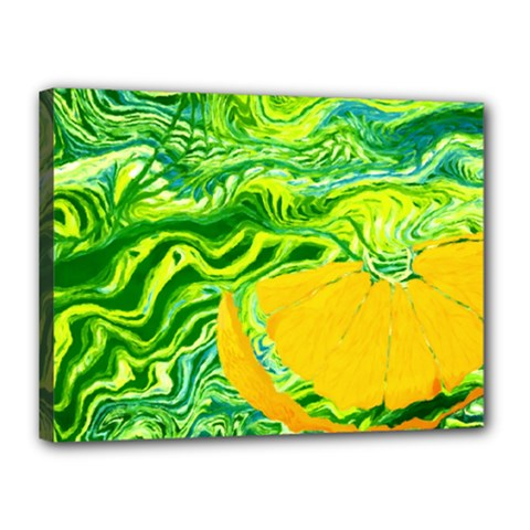 Zitro Abstract Sour Texture Food Canvas 16  X 12