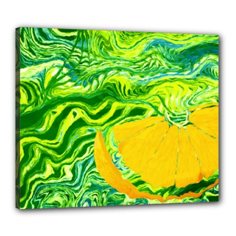 Zitro Abstract Sour Texture Food Canvas 24  X 20