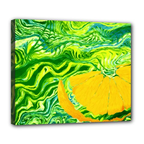 Zitro Abstract Sour Texture Food Deluxe Canvas 24  X 20