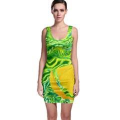 Zitro Abstract Sour Texture Food Sleeveless Bodycon Dress