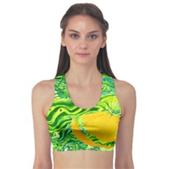 Zitro Abstract Sour Texture Food Sports Bra