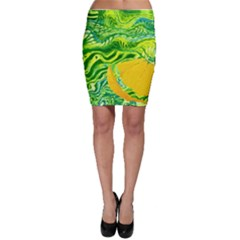 Zitro Abstract Sour Texture Food Bodycon Skirt