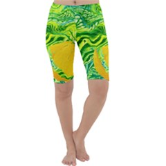Zitro Abstract Sour Texture Food Cropped Leggings