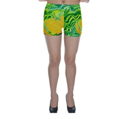 Zitro Abstract Sour Texture Food Skinny Shorts