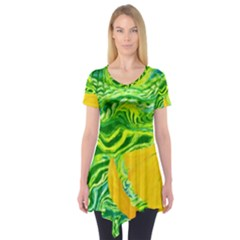 Zitro Abstract Sour Texture Food Short Sleeve Tunic