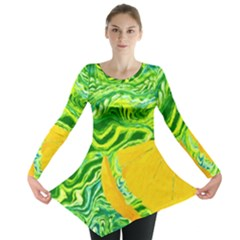 Zitro Abstract Sour Texture Food Long Sleeve Tunic