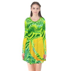 Zitro Abstract Sour Texture Food Flare Dress