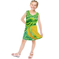Zitro Abstract Sour Texture Food Kids  Tunic Dress