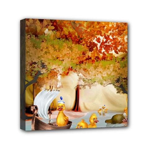 Art Kuecken Badespass Arrangemen Mini Canvas 6  X 6