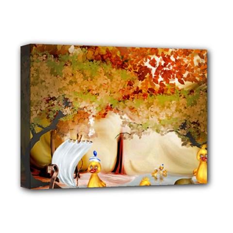 Art Kuecken Badespass Arrangemen Deluxe Canvas 16  X 12