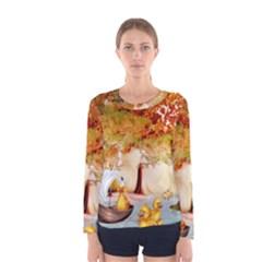 Art Kuecken Badespass Arrangemen Women s Long Sleeve Tee