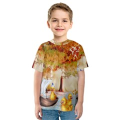 Art Kuecken Badespass Arrangemen Kids  Sport Mesh Tee