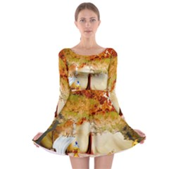 Art Kuecken Badespass Arrangemen Long Sleeve Skater Dress
