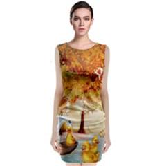 Art Kuecken Badespass Arrangemen Classic Sleeveless Midi Dress