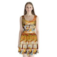 Art Kuecken Badespass Arrangemen Split Back Mini Dress
