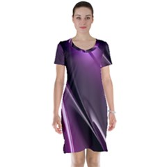 Fractal Mathematics Abstract Short Sleeve Nightdress