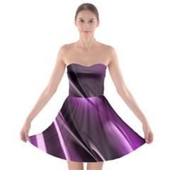 Fractal Mathematics Abstract Strapless Bra Top Dress