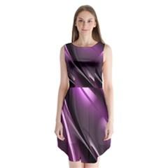 Fractal Mathematics Abstract Sleeveless Chiffon Dress