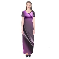 Fractal Mathematics Abstract Short Sleeve Maxi Dress
