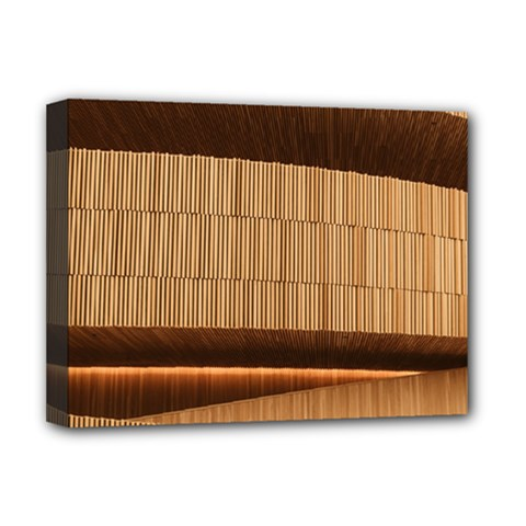 Architecture Art Boxes Brown Deluxe Canvas 16  X 12