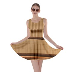 Architecture Art Boxes Brown Skater Dress