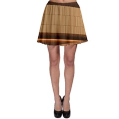 Architecture Art Boxes Brown Skater Skirt