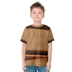 Architecture Art Boxes Brown Kids  Cotton Tee