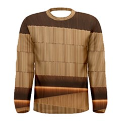 Architecture Art Boxes Brown Men s Long Sleeve Tee