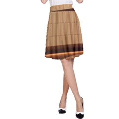 Architecture Art Boxes Brown A Line Skirt