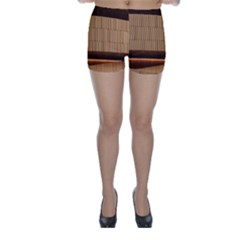 Architecture Art Boxes Brown Skinny Shorts