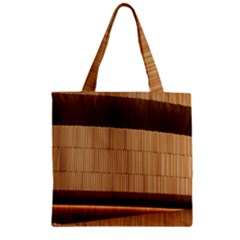 Architecture Art Boxes Brown Zipper Grocery Tote Bag