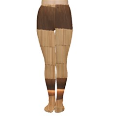 Architecture Art Boxes Brown Women s Tights