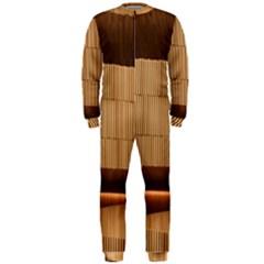 Architecture Art Boxes Brown Onepiece Jumpsuit (men)
