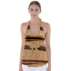 Architecture Art Boxes Brown Babydoll Tankini Top