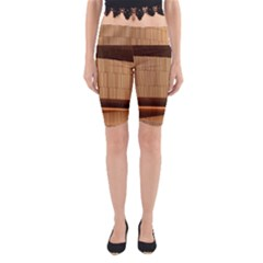Architecture Art Boxes Brown Yoga Cropped Leggings