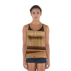 Architecture Art Boxes Brown Women s Sport Tank Top