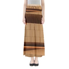 Architecture Art Boxes Brown Maxi Skirts