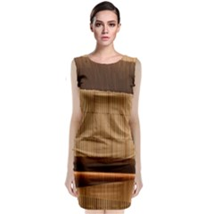 Architecture Art Boxes Brown Classic Sleeveless Midi Dress