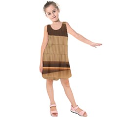 Architecture Art Boxes Brown Kids  Sleeveless Dress