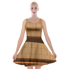 Architecture Art Boxes Brown Velvet Skater Dress