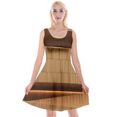 Architecture Art Boxes Brown Reversible Velvet Sleeveless Dress