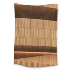 Architecture Art Boxes Brown Large Tapestry