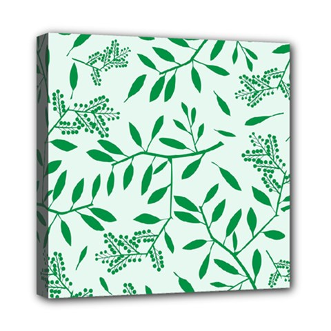 Leaves Foliage Green Wallpaper Mini Canvas 8  X 8