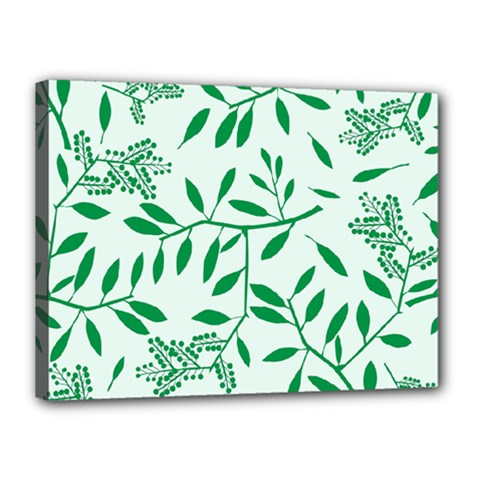 Leaves Foliage Green Wallpaper Canvas 16  X 12