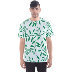 Leaves Foliage Green Wallpaper Men s Sport Mesh Tee