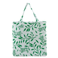 Leaves Foliage Green Wallpaper Grocery Tote Bag