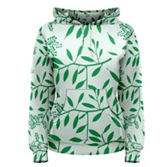 Leaves Foliage Green Wallpaper Women s Pullover Hoodie